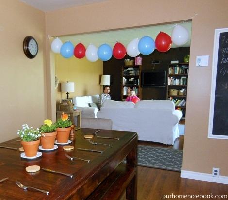 Emma's birthday ballons