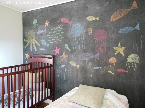 Kids Room After - Chalkboard side view