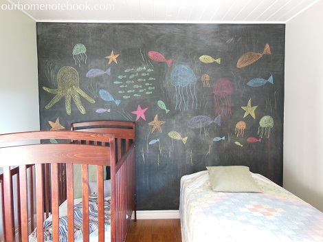 Kids Room After - Chalkboard wall