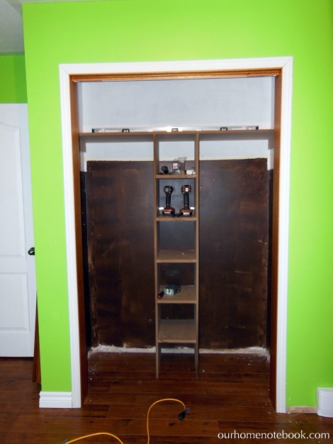 Kids Room Makeover - Building a closet organizer