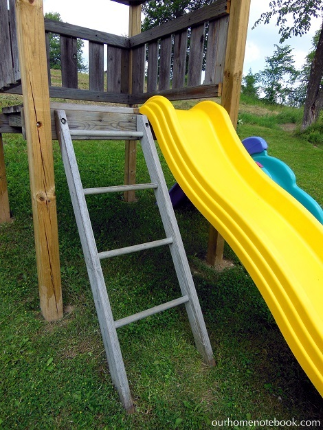 Building a Playset - Adding the slide and ladder