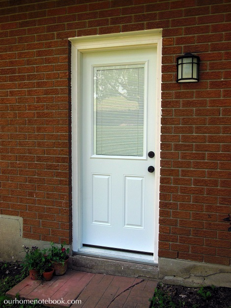 Installing a Exterior Door - After with blinds