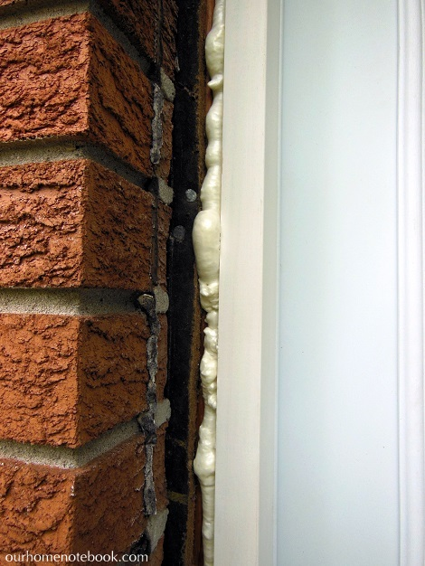 Installing a Exterior Door - Filling gap with expanding foam