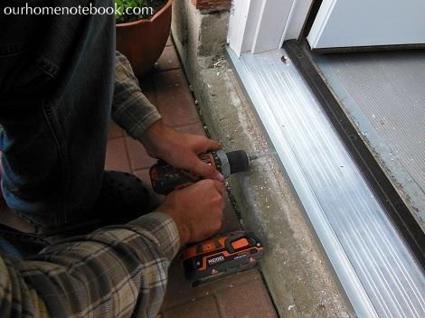 Installing a Exterior Door - Finishing off the door sill