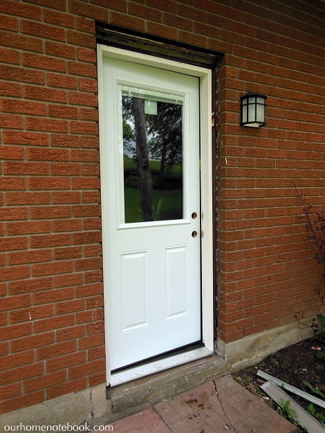 A new back door our home notebook for Exterior back doors for home