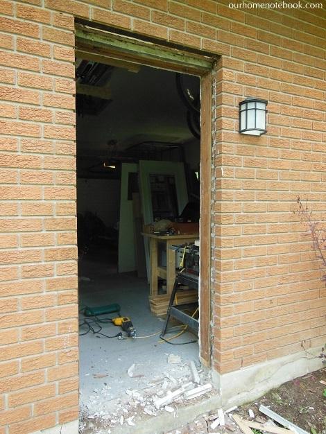 Installing a Exterior Door - Old door frame gone