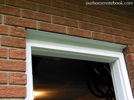 Installing a Exterior Door - Putting up metal flashing