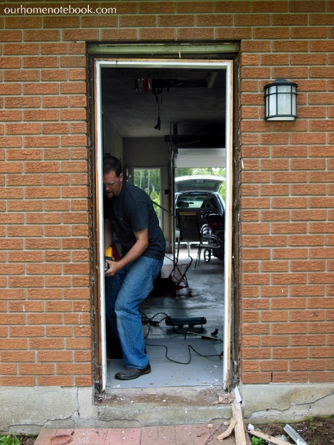 Installing a Exterior Door - Removing the old door frame2