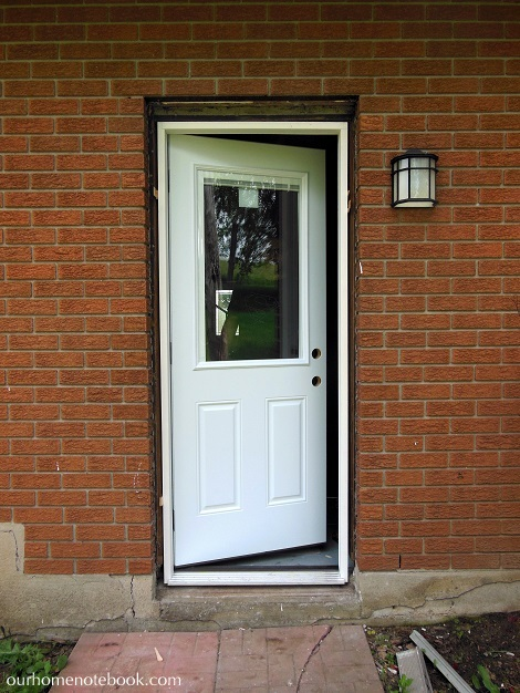 Installing a Exterior Door - Trying out new door
