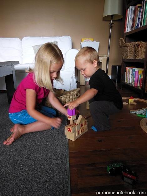 Organizing Toys - Kids building