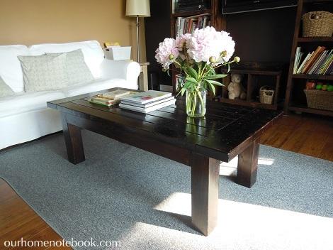 Peonies in livingroom