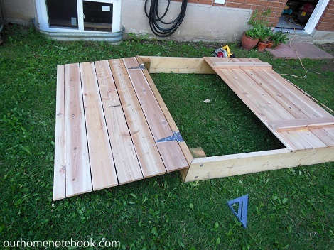 Building a Sandbox - Putting on the hinges