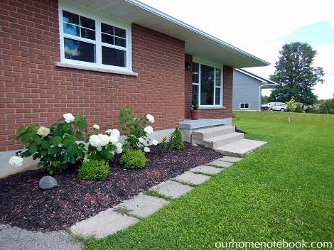 Front Garden with hydrangeas
