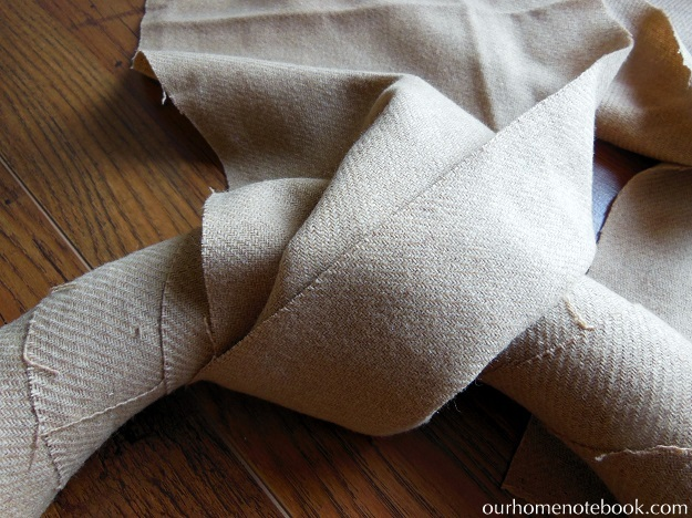 Simple Fabric Wrapped Wreath Tutorial - Step 2 Wrap Fabric Keeping The Folds