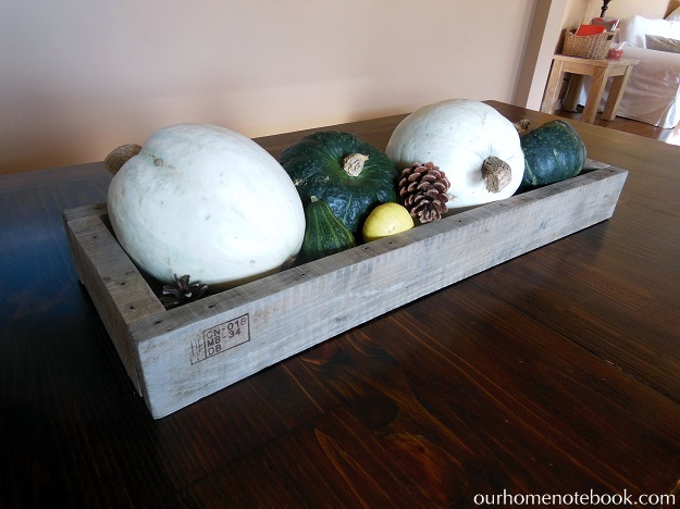 Building A Rustic Wood Centerpiece Box - Decorated fall table