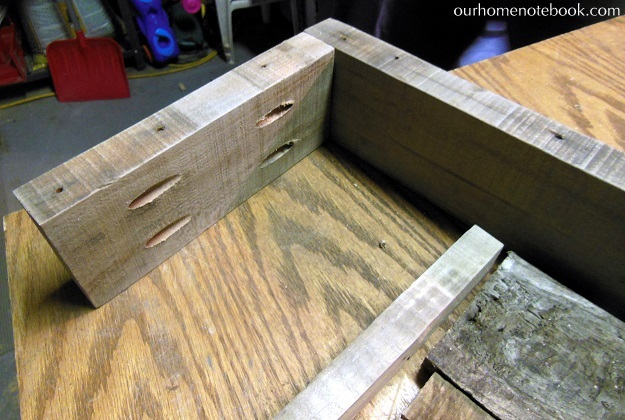 Building A Rustic Wood Centerpiece Box - Screwing the box together