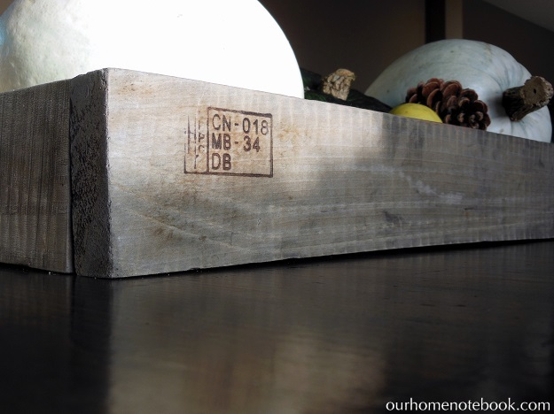 Building A Rustic Wood Centerpiece Box - Stamp on pallet board